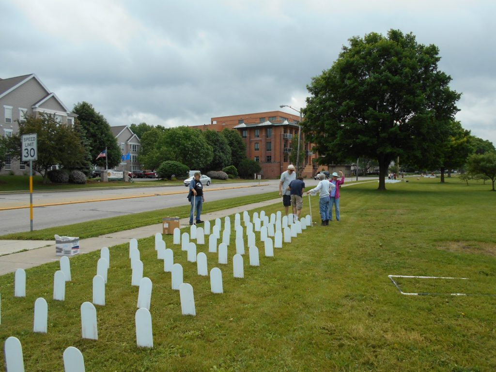 2016 Memorial Mile Installation, Photo by Tom Glassel